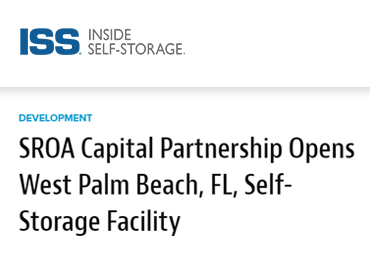 sroa capital opens west palm beach storage facility