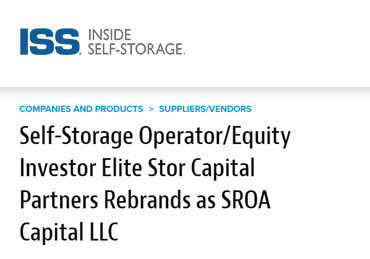 elite stor capital rebrands as sroa capital llc