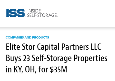 elite stor purchases 23 self storage facilities