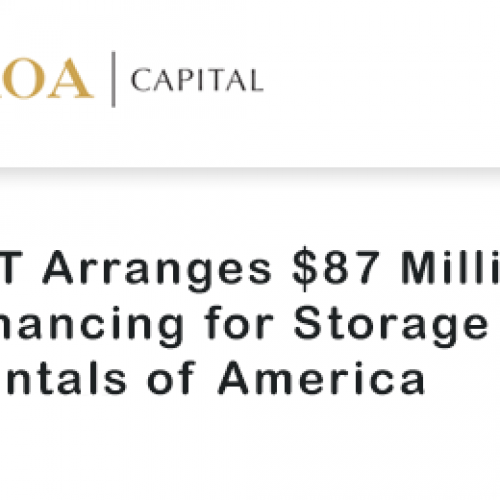 CIT Arranges $87 Million Financing for Storage Rentals of America