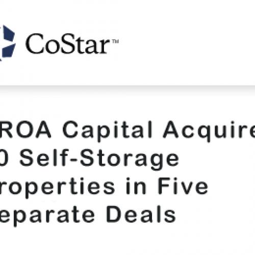 SROA Capital Acquires 30 Self-Storage Properties in Five Separate Deals