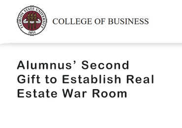 Alumnus' Second Gift to Establish Real Estate War Room