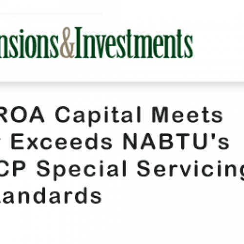SROA Capital Meets or Exceeds NABTU's RCP Special Servicing Standards